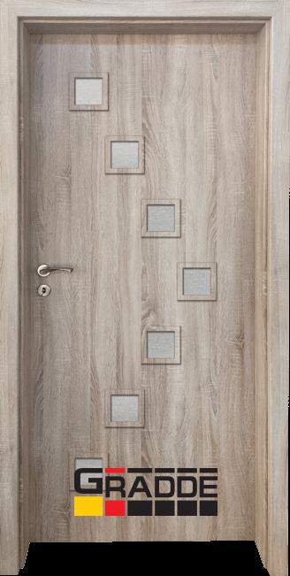 Интериорна HDF врата, модел Gradde Zwinger, Дъб Вераде