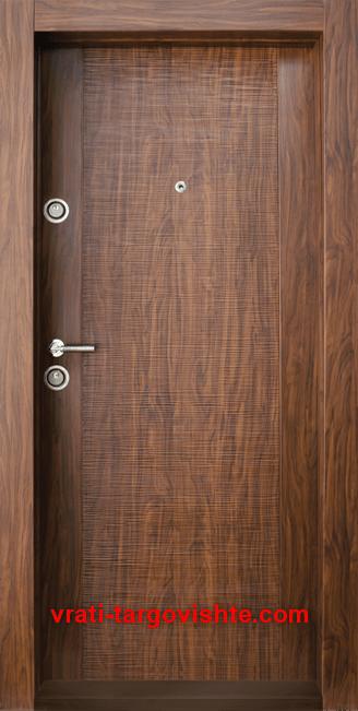 Блиндирана входна врата, модел BG 002, цвят Златен дъб