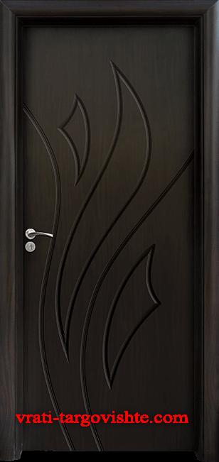 Интериорна врата Стандарт 033-p, цвят Венге