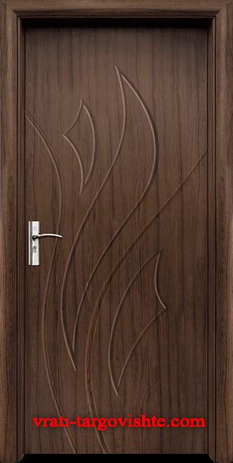 Интериорна врата Стандарт 033-p, цвят Орех