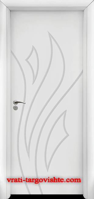 Интериорна врата Стандарт 033-p, цвят Бял