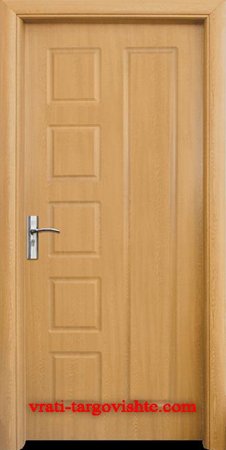 Интериорна врата Стандарт 048-p, цвят Светъл дъб