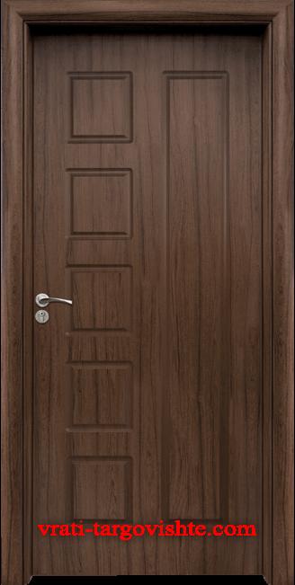 Интериорна врата Стандарт 048-p, цвят Орех