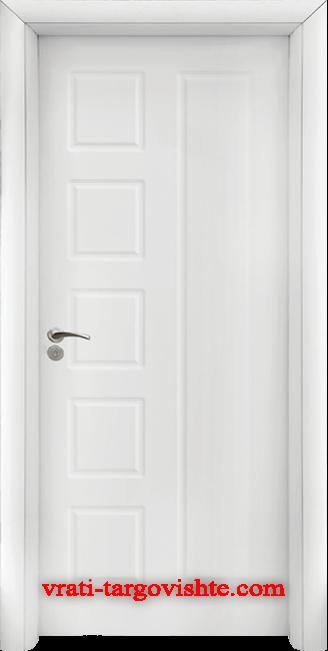 Интериорна врата Стандарт 048-p, цвят Бял