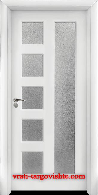 Интериорна врата Стандарт 048, цвят Бял